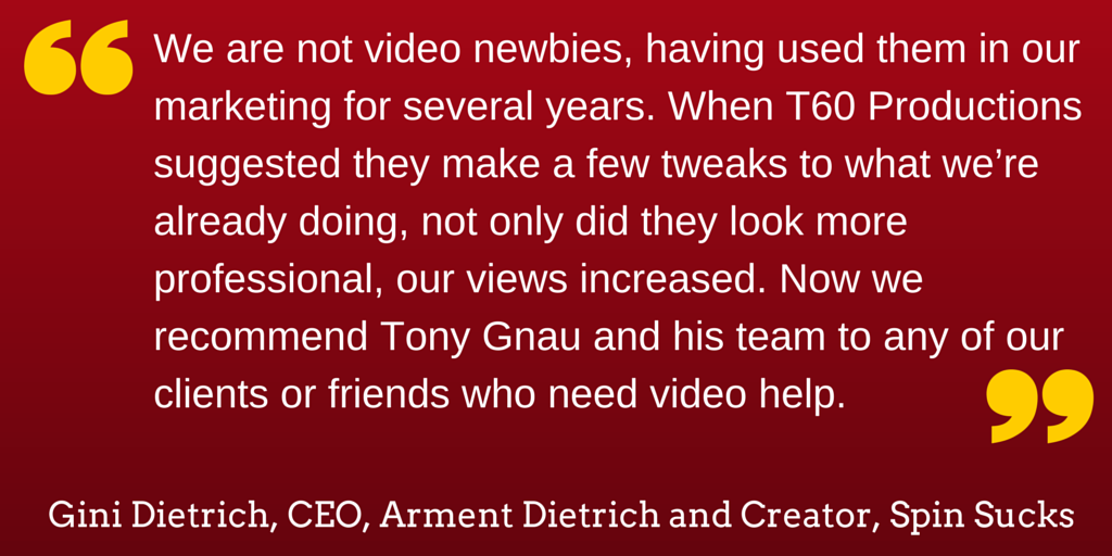 Testimonial for chicago video production