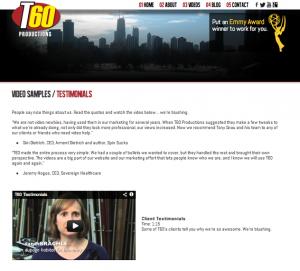 T60 testimonial page
